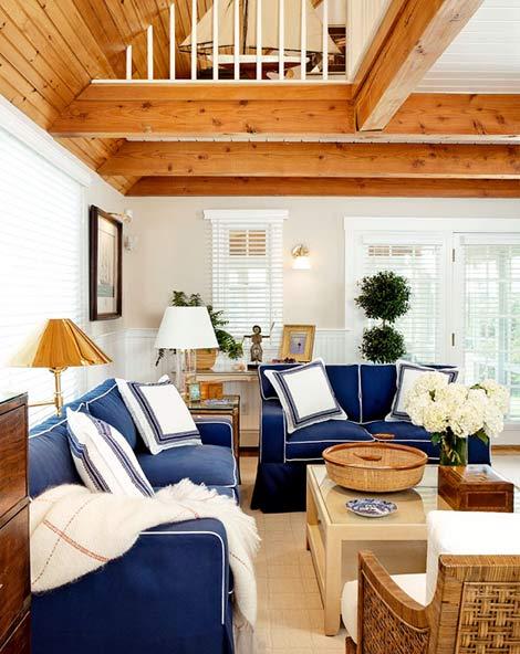 Everything Coastal Classic Coastal Blue And White Decorating