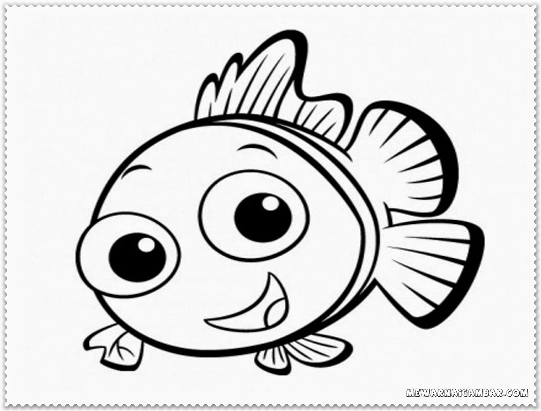 Clown Fish Coloring Pages Printable