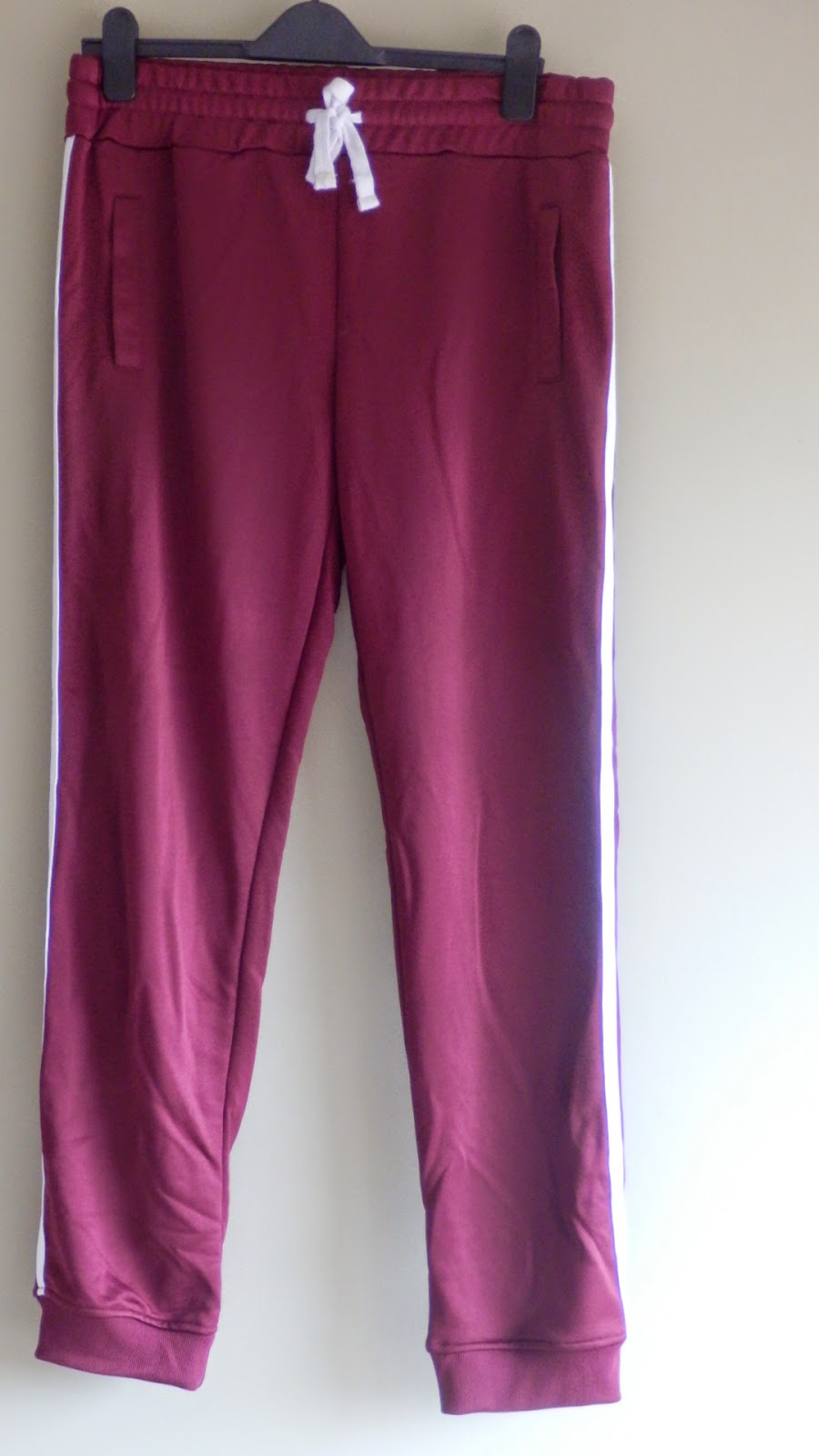Primark burgundy retro jogging bottoms