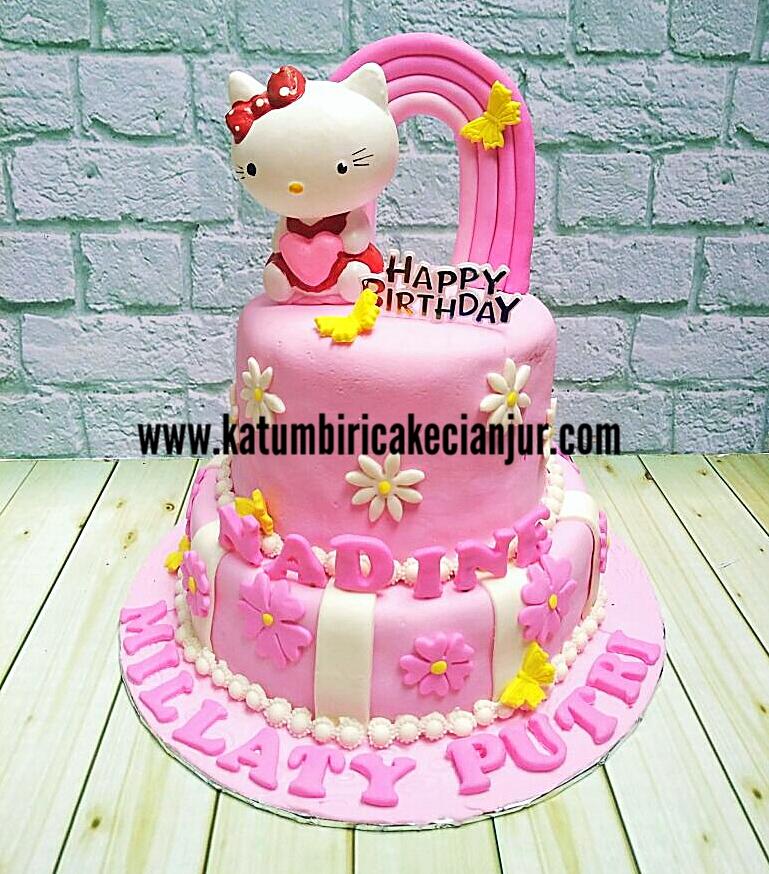 Cake Ultah Anak Tema Hello Kitty Katumbiri Custom Cake Cianjur