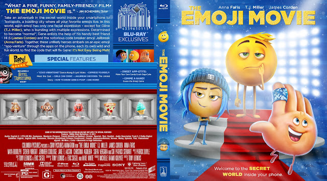 The Emoji Movie Bluray Cover
