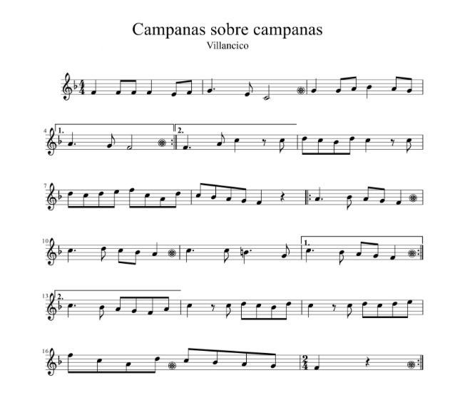 Villancico - Campana sobre Campana (Fácil) partituras