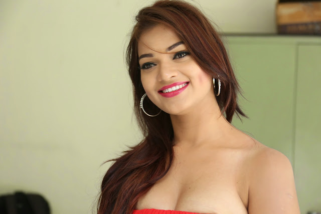 Ashwini glamorous photos in red-HQ-Photo-1