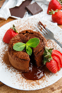 Dark Chocolate Lava Cakes
