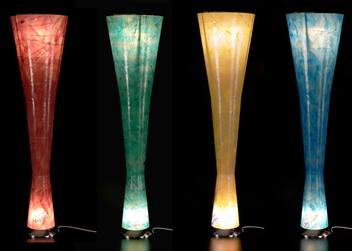 Lampade In Vetro Colorate : Lampada fibra di vetro colorata design raffaella cicuttini by