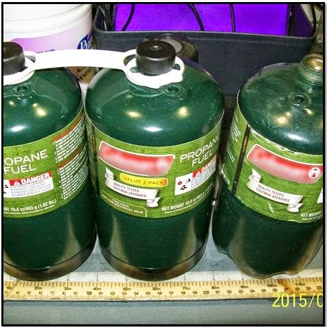 Three full camping-sized propane tanks were discovered in a carry-on bag at Oakland (OAK). Propane tanks are prohibited in both carry-on and checked baggage due to their propensity to explode.