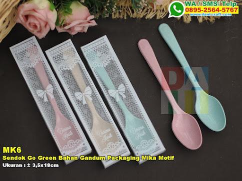 Sendok Go Green Bahan Gandum Packaging Mika Motif