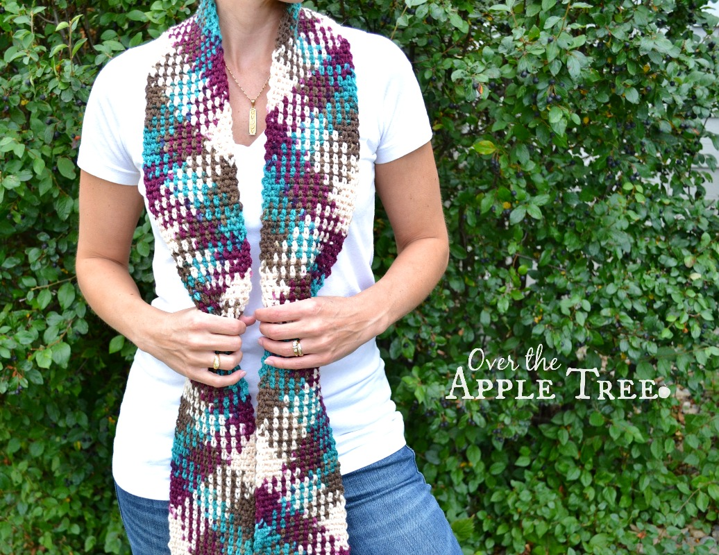 Over The Apple Tree: Crochet Scarf- Color Pooling