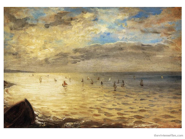 Building a Capsule Wardrobe by Starting with Art: The Sea Seen from the Heights of Dieppe by Eugene Delacroix