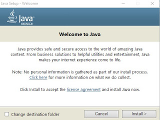 Install Java Runtime Environtment (JRE)