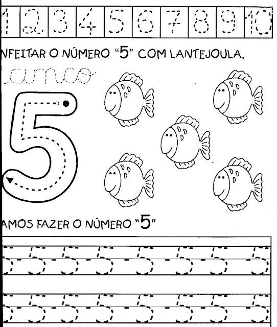 atividades com o numero 5