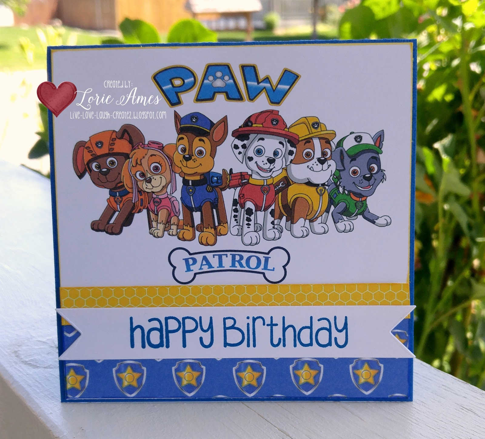 Our Grandson Loves Paw Patrol So Of Course This Nana Had To Make The Card And Decorations Not Only With But Also His Favorite PP Characters