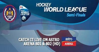 Jadual dan Keputusan Perlawanan Separuh Akhir Liga Hoki Dunia 2017