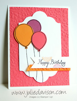 Stampin' Up! Balloon Celebration birthday card #stampinup Occasions Catalog www.juliedavison.com