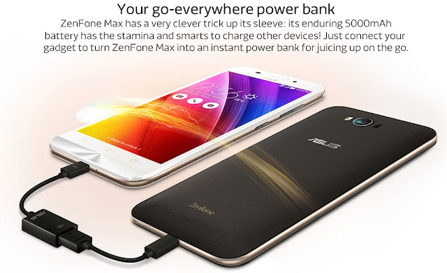 Zenfone Max 4 You go everywhere with power bank