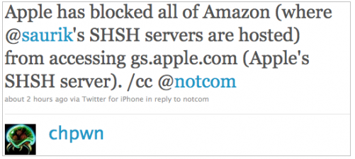 Saurik SHSH Servers Blocked By Apple