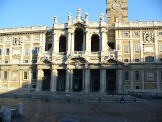 The Basilica of Santa Maria Maggiore in Rome was damaged by the earthquake