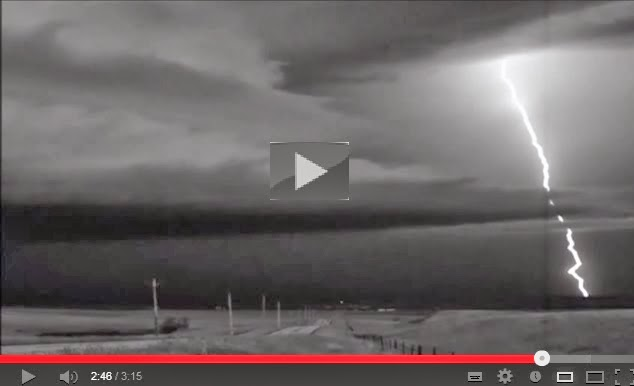 Super Slow Motion Lightning Strike. 1 second in 3 minutes