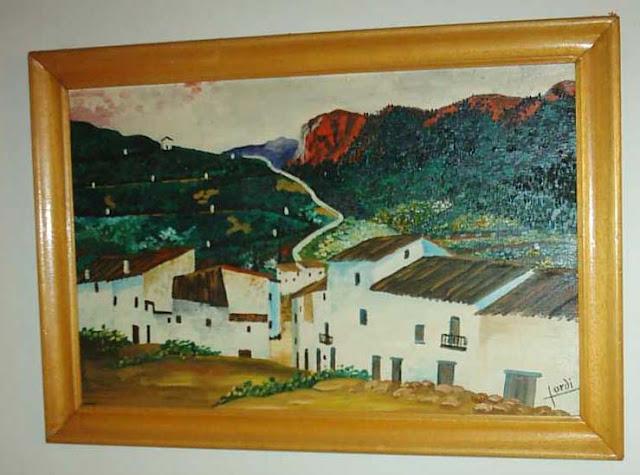 cuadro Jordi las eras les eres vista Santa Bárbara