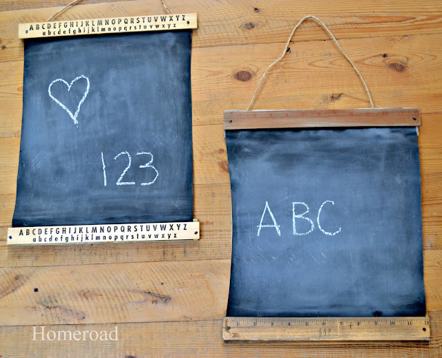 How to Make Vintage Ruler Chalkboards