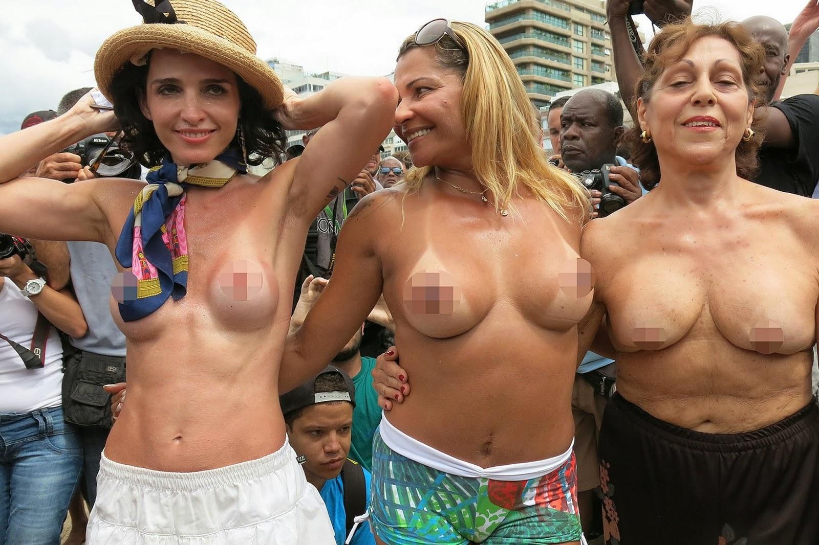 News Journal Brazillian Women Strip Off In Protest -2528