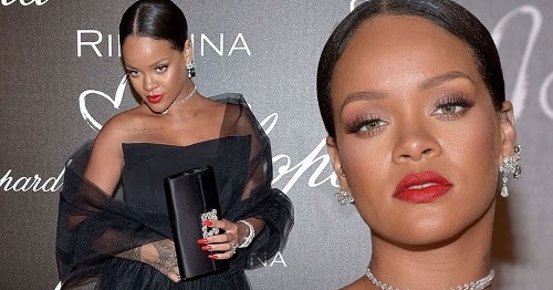 Rihanna Dazles In Tulle Gown At Cannes Chopard Dinner For ...