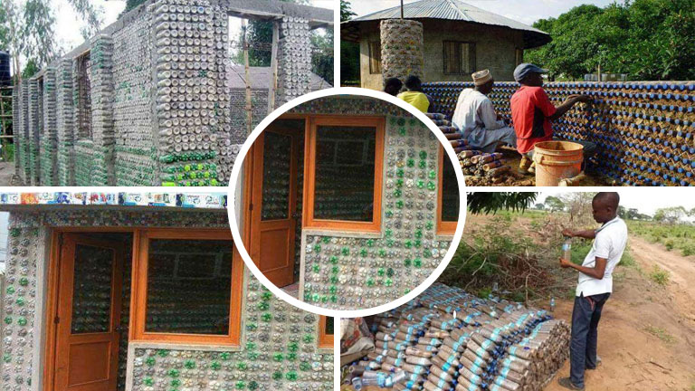 Someone From Ghana Made A House From Plastic Bottles And ...