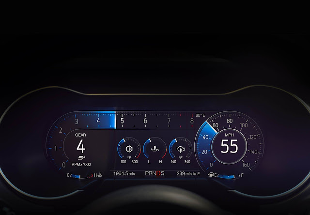 12-inch digital instrument cluster in 2018 Ford Mustang GT Premium