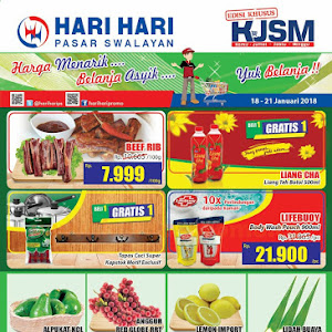 Katalog Promo Hari Hari Swalayan Weekend 18 - 21 Januari 2018