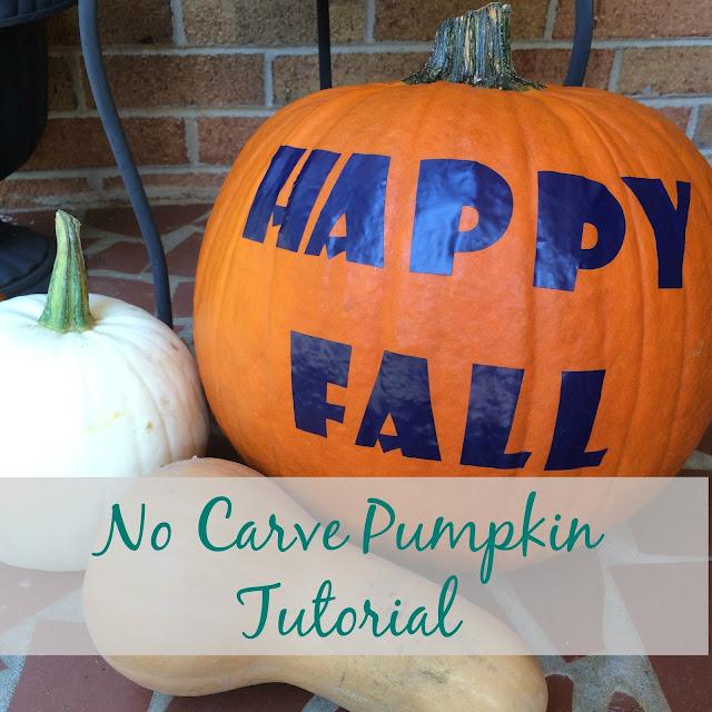 Make a decorative No-Carve pumpkin using your Cricut