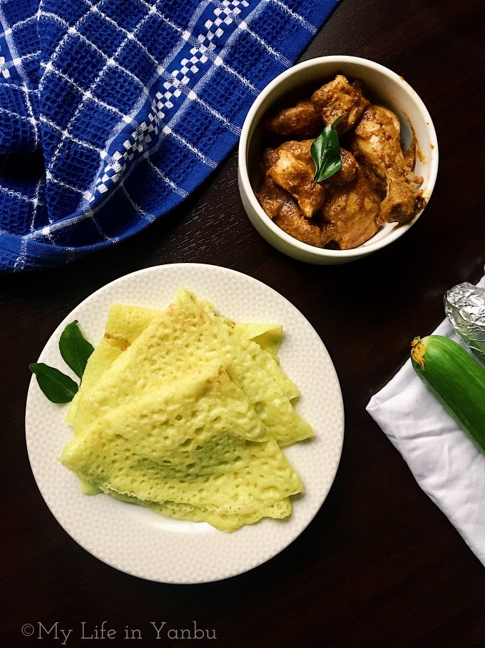Cucumber Dosa | Rice and Coconut