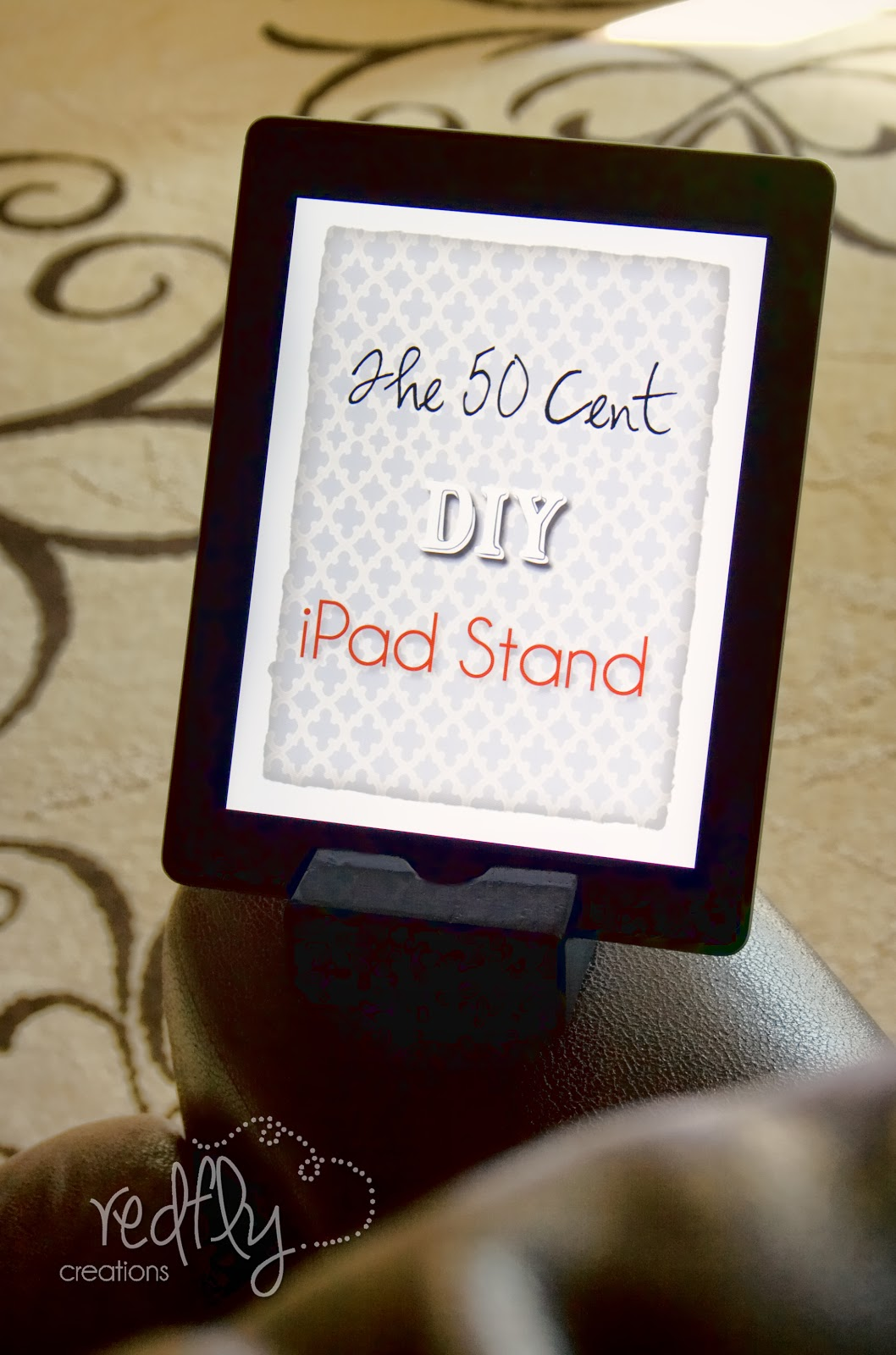 Redfly Creations: The 50-Cent DIY iPad Stand