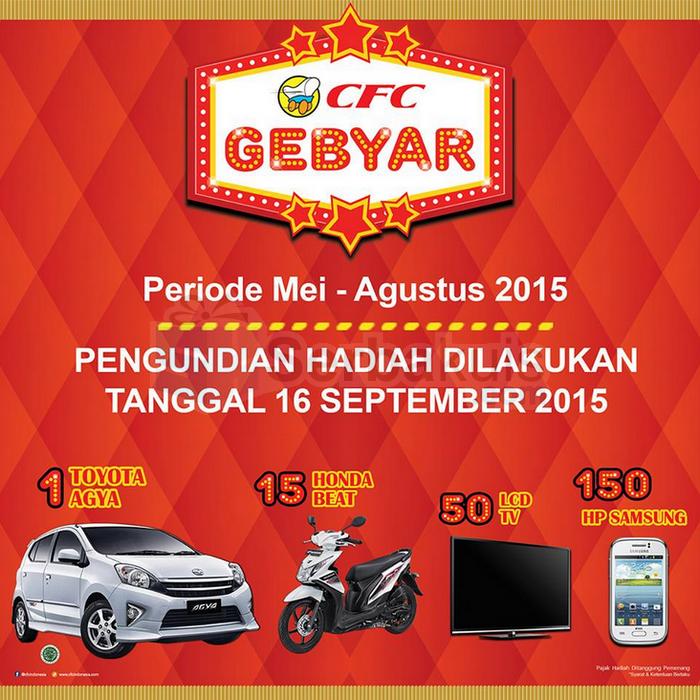Undian CFC Gebyar Berhadiah Mobil Toyota Agya