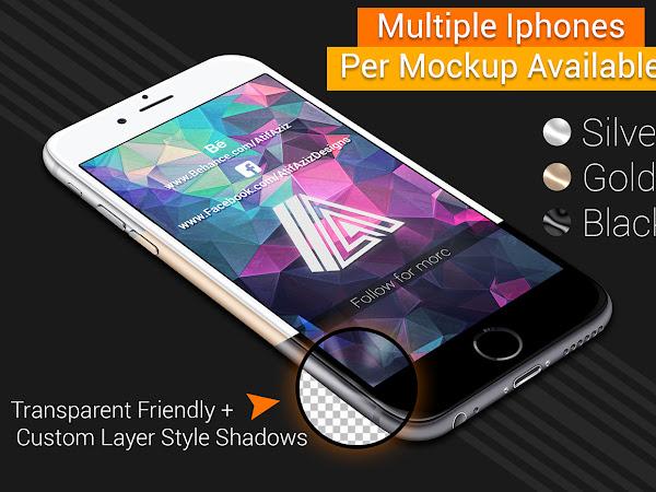 Download 7 i-Phone Mockup PSD Free