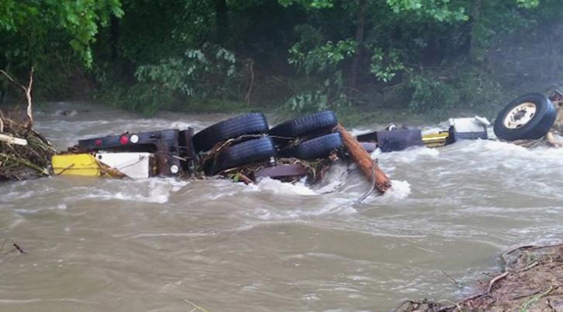 A North Carolina Department of Transportation dump
