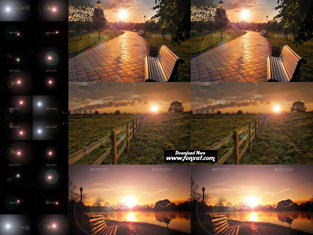 The effect of light for Photoshop to combine images Lovers