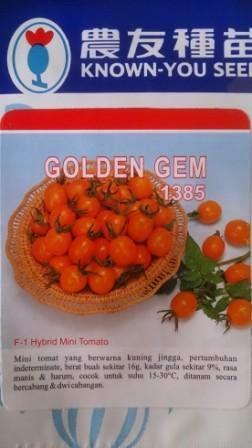 Benih, Tomat Cherry, Golden Gem ,tomat, tahan virus,kuning, keriting, unggul, dataran rendah, tinggi, petani, Known You Seed, Harga Murah