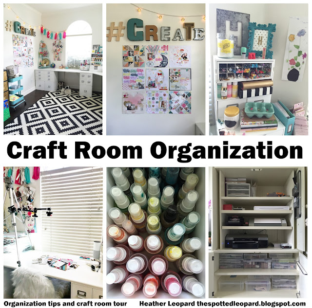 Craft Room Organization and storage ideas to make the most of any space | @heatherleopard 's #ScrapbookingSpace #craftroom #craftroomorganization #scrapbookingroom #scrapbooking #craftroommakeover #scrapbook