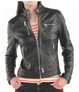 Gambar Jaket Kulit Wanita Rider
