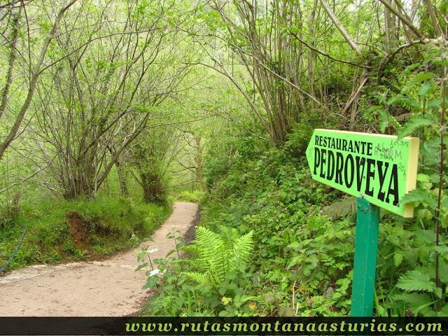Cruce hacia Pedroveya en las Xanas