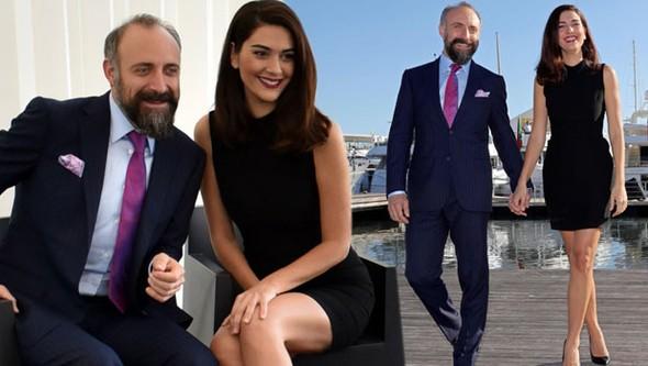 Halit Ergenç și soția sa, Bergüzar Korel, anul trecut la Cannes