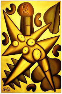 Jogadora de Castanha [Francisco Brennand] (1977) - Óleo sobre Tela