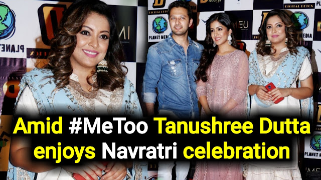 Tanushree Dutta enjoys Navratri celebration