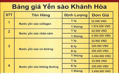 Giá nước yến sào Khánh Hòa Sanest dạng lọ tại On-plaza Việt Pháp