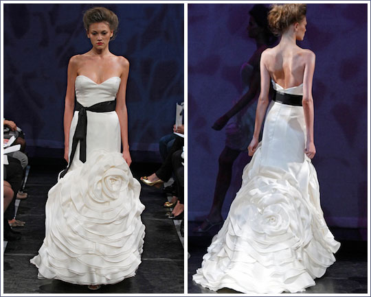 Dream Wedding Place: Black And White Wedding Dress