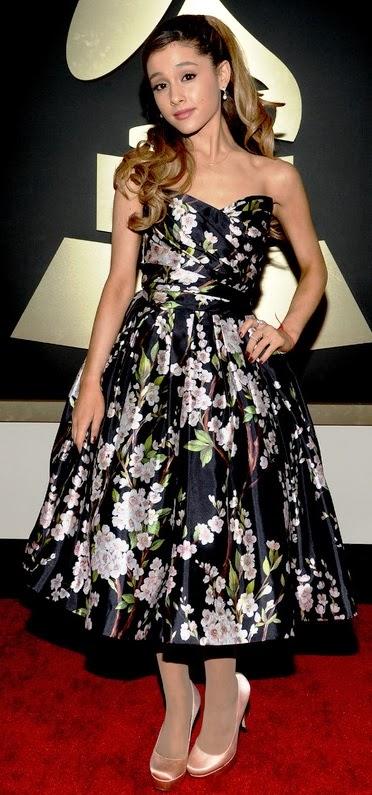 Ariana+Grande+in+Dolce+&+Gabbana - Grammys 2014