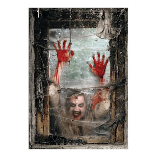 Image: Zombie Window Backdrop Banner | Halloween decoration transforms windows into scary scenes