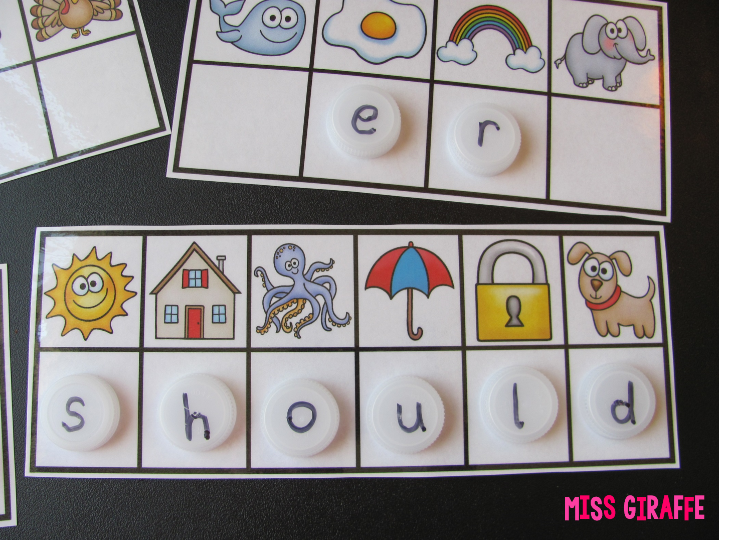 Secret Sight Words activity where kids look at the beginning sound of each picture to reveal the secret sight word.. love these!