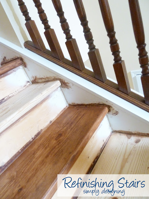 staining+stairs Staircase Make-Over {Part 5}: this was our final attempt...no matter what! 9