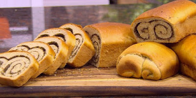 خبز بالزعتر واللبنة